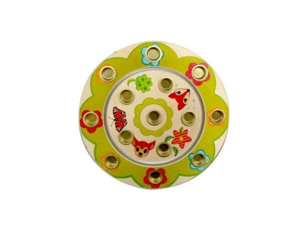 Hess-Spielzeug Geburtstagsring klein aus Holz mit Waldtier-Motiv