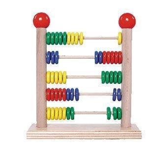 Hess-Spielzeug Rechenschieber aus Holz für Vorschulkinder