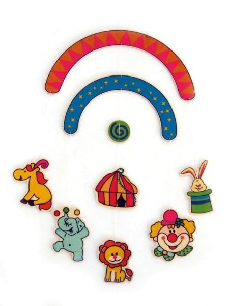 Baby Mobile aus Holz mit Zirkus-Figuren von Hess Spielzeug