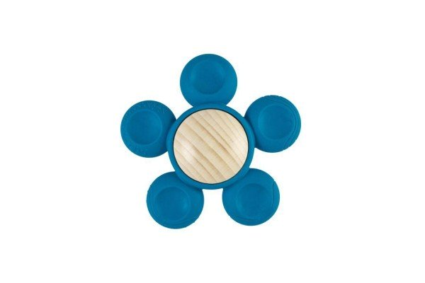 Greifling Fio+ Blumenform für Jungs in blau von little big things