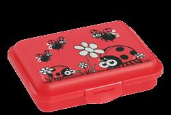 Brotdose für Kindergarten & Schule bpa frei in rot mit Motiv
