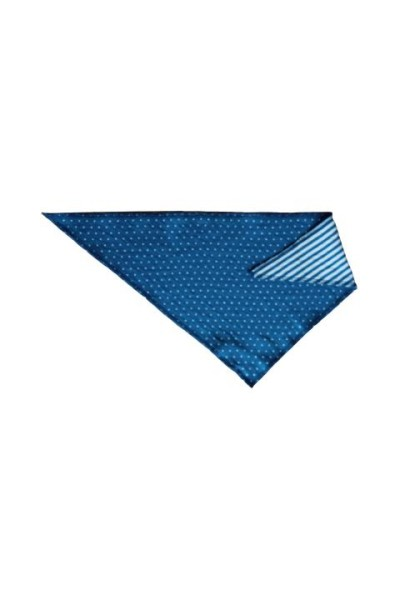 Leela Cotton Dreieckstuch Pünktchen blau weiß aus Bio Baumwolle