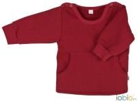 Baby-Sweater Pocket in rot aus Bio-Baumwolle von iobio