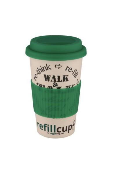 Coffee to go Cup aus Bambus & Maisstärke von veggiebag
