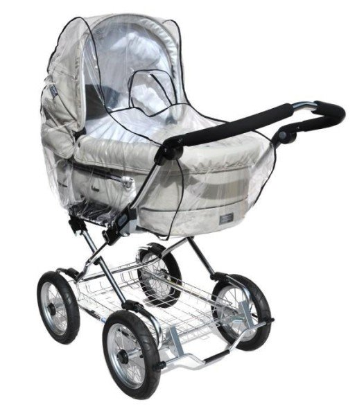 Asmi Kinderwagen-Regenverdeck aus klarem PVC extra groß