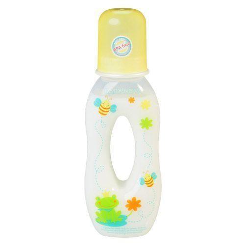 Trinklernflasche & Greifflasche 250ml in gelb von Baby-Nova