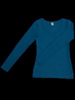 1b521356223d Leela Cotton Damen Langarm-Shirt aus GOTS Bio-Baumwolle + Elasthan