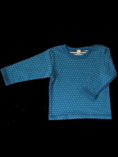 Wendelangarmshirt Pünktchen blau-weiß aus Bio-Baumwolle von Leela Cotton.  Kinder Wendelangarmshirt ... 9ed63df797