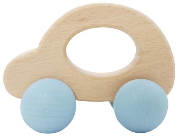 Hess Holzspielzeug Schiebefigure AUTO mit blauen Rädern