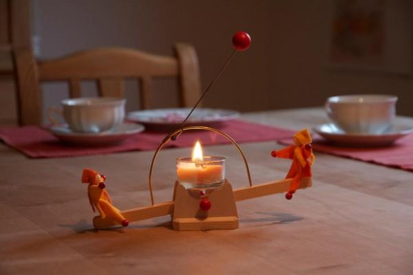 Lichtwippe aus Holz & Teelicht, Bausatz von Kraul