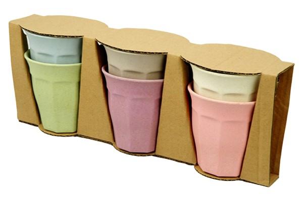 Bunte Trinkbecher im Set Pastellfarben von Zuperzozial