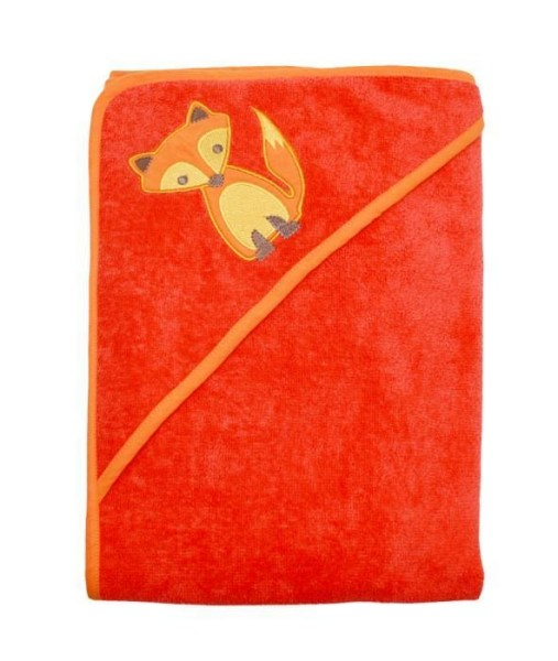 ImseVimse Baby-Kapuzenhandtuch in orange mit Motiv Fuchs