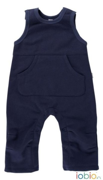 Coole Cord-Latzhose für Babys in Dunkelblau aus 100% Bio Baumwolle