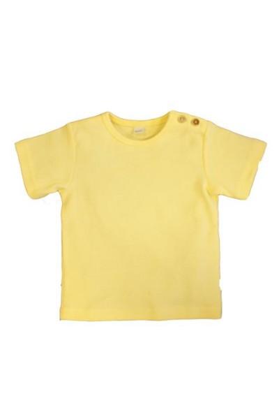 Leela Cotton Babyshirt Kurzarm aus Öko-Baumwolle in Mais-Gelb