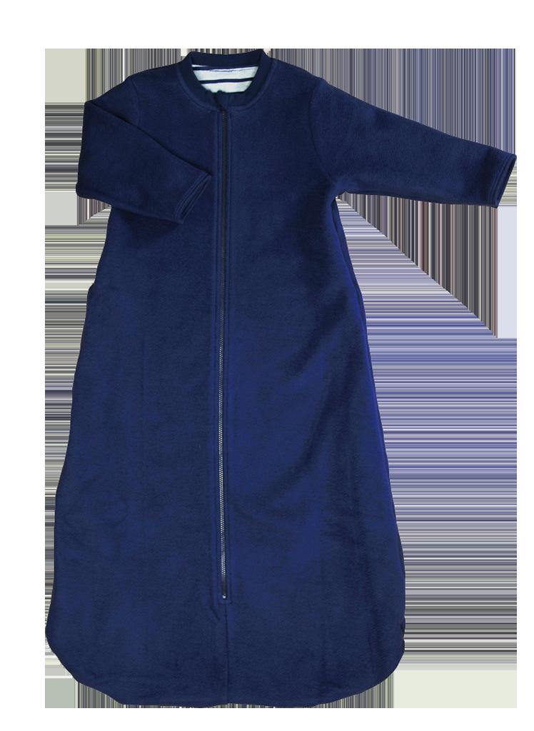 ... Vorschau  Babyschlafsack zum Wenden aus Fleece in Marineblau von Leela  Cotton 7aab22391f