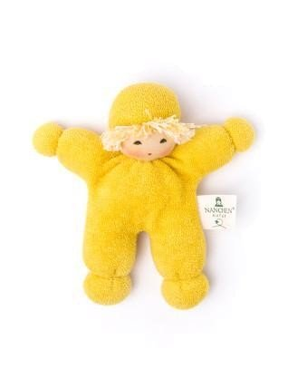 Nanchen Puppe ERBSENKIND in gelb aus Bio-Baumwolle