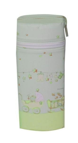 Asmi Thermobox für Baby-Weithalsflaschen TRÄUMERLE in grün