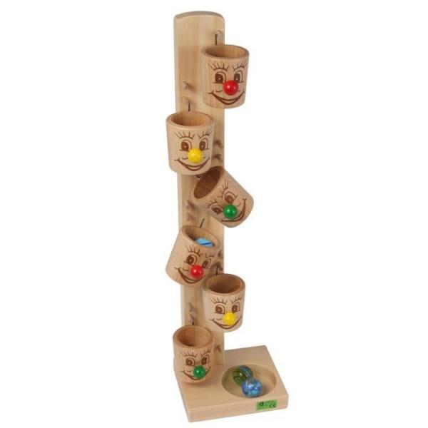 Kullerbecher Spiel miti Glaskugeln von Beck-Holzspielzeug