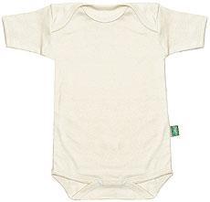 Lotties Halbarm-Babybody aus Bio Baumwolle in natur