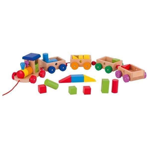 Holzzug Philadelphia 18teilig Lernspielzeug von Goki