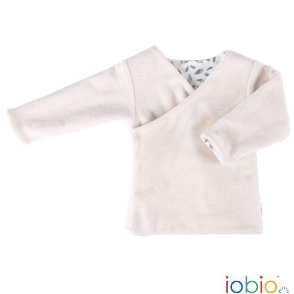Wende Wickeljacke für Babys aus Bio Baumwolle in Ecru