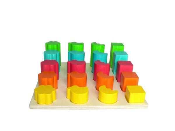 Formen-Steckspiel aus buntem Holz für Motorik von Hess Holzspielzeug