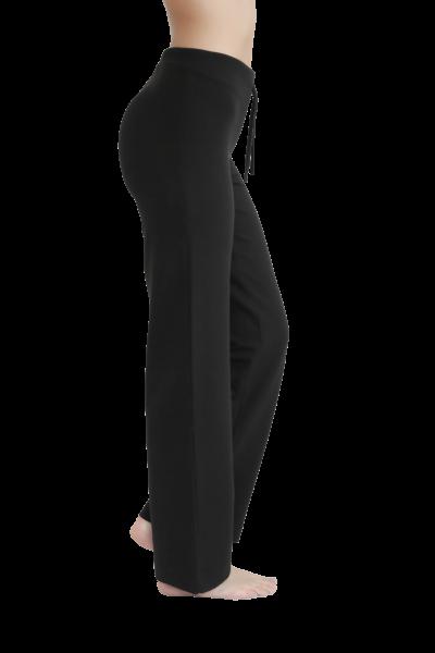 3ef9c37996ae Leela Cotton Damen-Hose in schwarz aus Bio-Baumwolle mit Elasthan