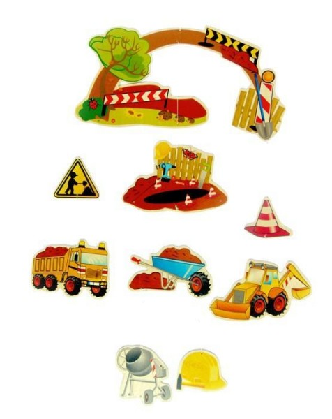 Hess-Spielzeug Baby-Mobile BAUSTELLE aus Holz