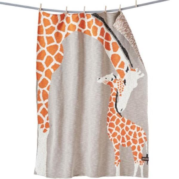 GOTS Babydecke Giraffenliebe von quschel company