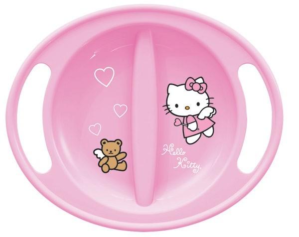 Esslernteller rosa mit Druck Hello Kitty