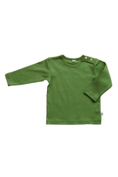 big sale 7d16d 7a1d4 Baby Langarmshirt aus Bio-Baumwolle in Wiesengrün