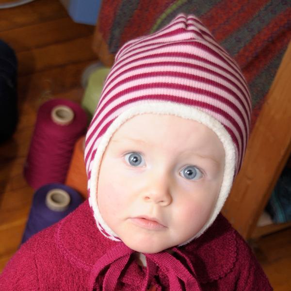 Baby Ohrenmütze aus kbA-Wolle von Reiff Strick